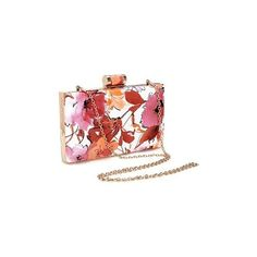 Floral Wash Painting Leather-look Box Clutch Bag in Orange ($27) ❤ liked on Polyvore featuring bags, handbags, clutches, yoins, floral purse, flower print purse, orange clutches, floral print handbags and orange handbags