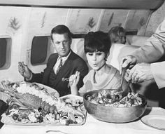 How airlines are improving the taste of plane food: In-flight catering from the 1970s.