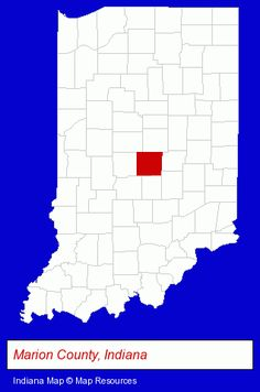 Marion County, Indiana locator map