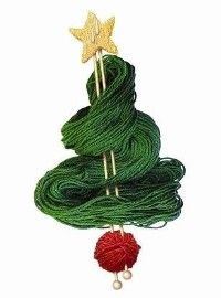 Knitting wool Christmas tree - Children's Liver Disease charity Christmas card - see our top 40 charity Christmas cards here! http://www.charitychoice.co.uk/blog/the-40-best-charity-christmas-cards/103