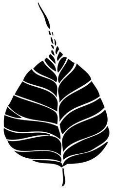 Bodhi tree leaf art