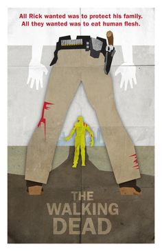 "I love constructivist style-redesigns! - ""The Walking Dead"" western movie poster -"