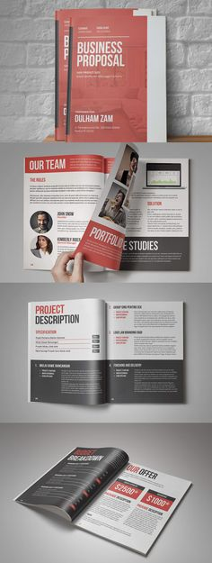 Proposal 34 Pages Template Indesign Indd Proposal Invoice