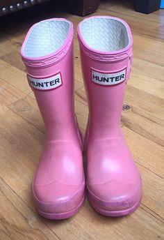Toddler Girls Sz 10 Hunter Boots Sz 9/10 Rain Boots Used   | eBay