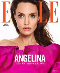 DIARY OF A CLOTHESHORSE: Angelina Jolie covers Elle US March 2018