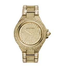 Michael Kors | Camille Pavé-Embellished Gold-Tone Stainless Steel Watch