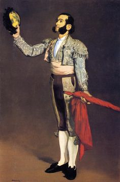 """A Matador"" by French artist - Édouard Manet Oil on board, x cm.), Metropolitan Museum of Art - New York, New York, USA. *Note: Also known as ""Matador Saluting"". National Gallery Of Art, Art Gallery, Renoir, Edgar Degas, O Matador, Free Illustration, Edouard Manet Paintings, Oil On Canvas, Canvas Prints"