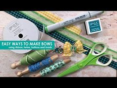 (1) Easy Ways to Make Bows - YouTube
