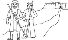 God Calls Abraham Coloring Pages