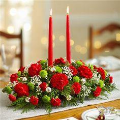 1-800-FLOWERS® SEASONS GREETINGS CENTERPIECE | Glorious Flowers