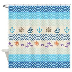 Hey, I found this really awesome Etsy listing at https://www.etsy.com/listing/176803585/blue-shower-curtain-sea-knitting-ornaart