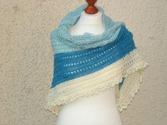 Tuch aus Merino mit langem Farbverlauf
