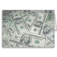 SOLD ! $100 Bills Money Spread Background Cards  SHIPPING TO Nashville, TN