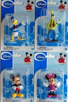 Mickey Mouse Clubhouse Figurines: Mickey, Minnie, Donald