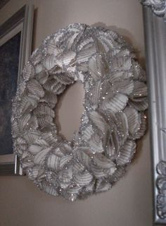Enchanted Rose Studio: HOW TO ~ BOOK PAGE SHIMMERING WREATH USING PUNCH OUT FLORETTES
