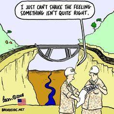 Upside down bridge Civil Engineering Corps
