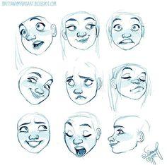 Drawing expressions, drawings и character design references. Character Design Cartoon, Character Design References, Character Drawing, Character Design Inspiration, Character Illustration, Character Design Animation, Comic Character, Disney Character Sketches, Fantasy Character
