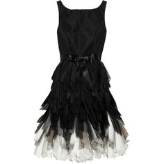 Oscar de la Renta Fringed-skirt silk-taffeta dress and other apparel, accessories and trends. Browse and shop 16 related looks.