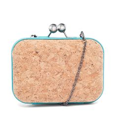 I love the MMS Design Studio Cork Clutch from LittleBlackBag Make Your Mark, Cork, Purses And Bags, Coin Purse, Wallet, My Style, Leather, Cuddle, Blue
