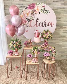 Simple Birthday Party: 100 charming decorations and acces . Festa de 15 anos simples: 100 encantadoras e Simple Birthday Party: 100 lovely decorations and acces . Decoration Buffet, Birthday Parties, Happy Birthday, Elegant Birthday Party, Bridal Shower, Baby Shower, Ideas Para Fiestas, Gold Party, Balloon Decorations