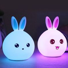 Bunny Nursery Night Light, Christmas Easter Kawaii Rabbit Gifts for 7 Year Old Baby Girls Kids, Color Changing w' Touch Senor USB Rechargeable Desk Bedside Lamp Cute Night Lights, Led Night Light, Light Led, Kids Bedroom, Bedroom Decor, Baby Accessoires, Kawaii Room, Cute Room Decor, Bedside Lamp