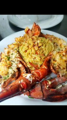Stuffed Lobster Pasta (Cinclare) Thibodaux, LA Stuffed Lobster, Lobster Pasta, Chicken Wings, Meat, Beautiful, Food, Pizza Recipes, Italian Foods, Sauces