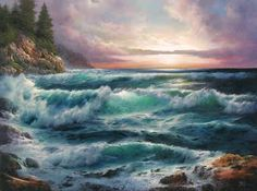 Oil painting seascape
