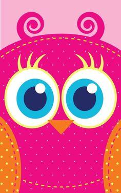 Pink Big-Eyes Owl Wallpaper