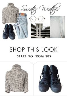 """""""Sweater Weather"""" by emcintyre5408 ❤ liked on Polyvore featuring Brunello Cucinelli and Converse"""