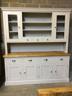 Amazing A Large Glazed Dresser In Fu0026B Purbeck Stone With A Rustic Plank Top.  Cobwebs Furniture