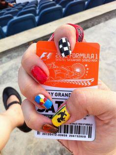 Formula 1 Nails Design Nail Art Pinterest Nail Polish Blog