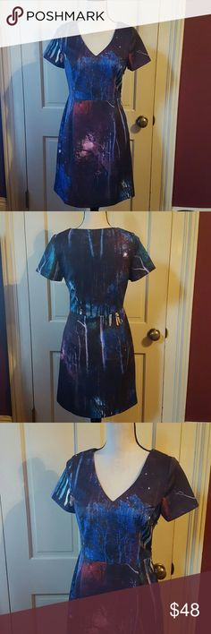 """Yumi twilight trees dress from ModCloth This dress is so beautiful! It says a size 2/4 but it fit me perfectly as a 6. (34B bust, 29 """"waist) Yumi Dresses Mini"""