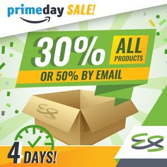 4 Days left until Prime Day!Get 30% OFF of ALL our products by using coupon code PRIMDY30 or get 50% off at http://ift.tt/2tih6gSOffer valid from July 10th 6pm PST until July 11th 11:59pm PST. http://amzn.to/2ujOzaW#everstretch #primeday #discount #amazon #amazonprime #amazonsellers