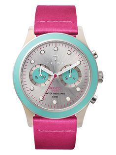 Flamingo Brasco Leather Strap Chronograph Watch