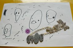 Custom tells: years ago My daughter drew a picture of our family and now I got the most beautiful necklace with the story 😍 Pictures To Draw, Beautiful Necklaces, To My Daughter, Most Beautiful, Snoopy, Fictional Characters, Jewelry, Jewellery Making, Jewerly