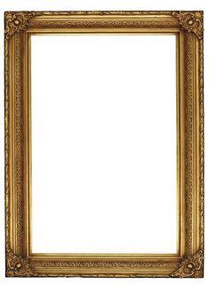 "Photo from album ""Золотые багеты on Yandex. Antique Picture Frames, Gold Picture Frames, Old Frames, Antique Photos, Vintage Frames, Photo Frame Wallpaper, Framed Wallpaper, Page Borders Design, Border Design"