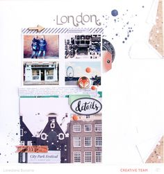 London scrapbooking layout