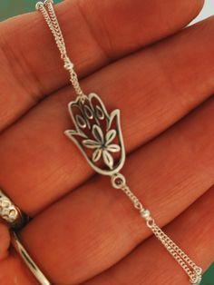 Flower Hamsa Bracelet by TeriLeeJewelry on Etsy, $38.00