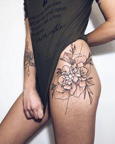 Pin by MrsChojnia on Tatoo Upper Thigh Tattoos, Side Tattoos, Great Tattoos, Trendy Tattoos, Forearm Tattoos, Beautiful Tattoos, Body Art Tattoos, New Tattoos, Dragon Tattoos