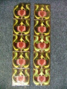 A72 ORIGINAL VICTORIAN FIREPLACE TILES FOR CAST IRON FIREPLACE