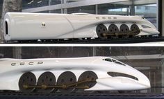 Luigi Colani designed steam locomotive for USSR. Never built.
