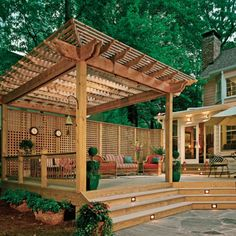 Perfect Patio Paver Design Ideas Brilliant paver patio ideas with fire pit to inspire you Diy Pergola, Deck With Pergola, Outdoor Pergola, Pergola Shade, Backyard Patio, Pergola Screens, Iron Pergola, Wooden Pergola, Covered Pergola