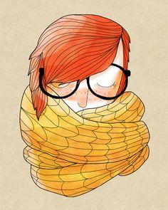 Knit - 8 x 10 Illustration Print. $16.00, via Etsy.