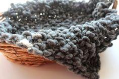 Grey newborn mini blanket photography by knitsandwhatknots on Etsy, $25.00