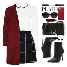 """Check It: Plaid"" by yoo-q ❤ liked on Polyvore featuring Hobbs, SET, Chloé, Carla Zampatti, Apple, Bobbi Brown Cosmetics, Thomas Sabo, plaid and contestentry"