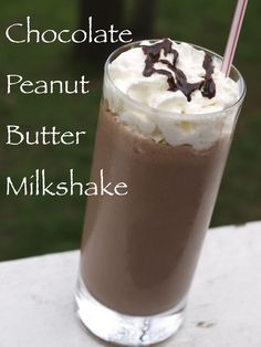 Homemade Milkshake Recipes | Chocolate Peanut Butter Milkshake Recipe