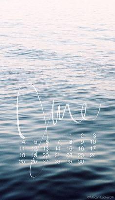 free downloadable June 2017 calendar for mobile wallpaper