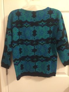 Womens pullover sweater petite S Black and Blue #unknown #Pullover