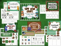Super Bowl Literacy Centers. Common Core aligned for first grade.