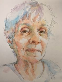 Quick Sketch Portraits — Pam Wenger Watercolors Watercolor Portraits, Watercolor Tips, Watercolor Canvas, Watercolor Techniques, Watercolor Landscape, Watercolor Paintings, Watercolours, Portrait Art, Portrait Photography